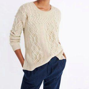 Madewell Merino Wool Cable Knit Sweater XXS